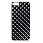 SCALES1 BLACK MARBLE & SILVER GLITTER (R) Apple iPhone 5 Seamless Case (White) Front