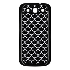 Scales1 Black Marble & Silver Glitter (r) Samsung Galaxy S3 Back Case (black) by trendistuff