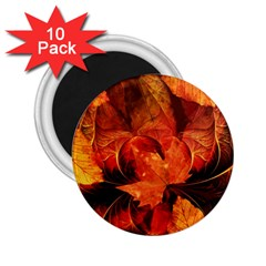 Ablaze With Beautiful Fractal Fall Colors 2 25  Magnets (10 Pack)