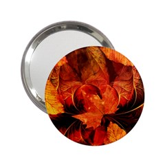 Ablaze With Beautiful Fractal Fall Colors 2 25  Handbag Mirrors by jayaprime