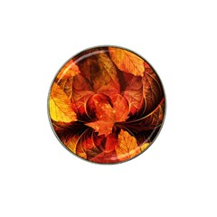 Ablaze With Beautiful Fractal Fall Colors Hat Clip Ball Marker by jayaprime