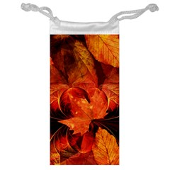 Ablaze With Beautiful Fractal Fall Colors Jewelry Bag by jayaprime