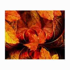 Ablaze With Beautiful Fractal Fall Colors Small Glasses Cloth (2 Side) by jayaprime