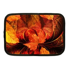 Ablaze With Beautiful Fractal Fall Colors Netbook Case (medium)  by jayaprime