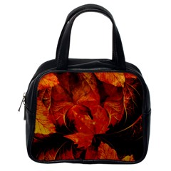 Ablaze With Beautiful Fractal Fall Colors Classic Handbags (one Side) by jayaprime