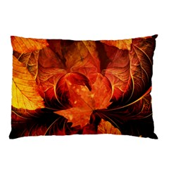 Ablaze With Beautiful Fractal Fall Colors Pillow Case by jayaprime