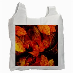 Ablaze With Beautiful Fractal Fall Colors Recycle Bag (one Side) by jayaprime