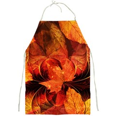 Ablaze With Beautiful Fractal Fall Colors Full Print Aprons by jayaprime