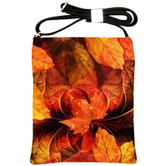 Ablaze With Beautiful Fractal Fall Colors Shoulder Sling Bags by jayaprime