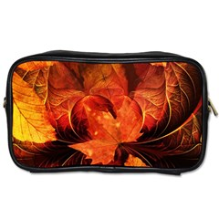 Ablaze With Beautiful Fractal Fall Colors Toiletries Bags 2 Side by jayaprime