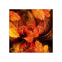 Ablaze With Beautiful Fractal Fall Colors Acrylic Tangram Puzzle (4  X 4 ) by jayaprime