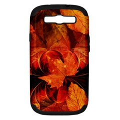 Ablaze With Beautiful Fractal Fall Colors Samsung Galaxy S Iii Hardshell Case (pc+silicone) by jayaprime
