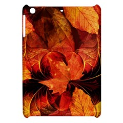 Ablaze With Beautiful Fractal Fall Colors Apple Ipad Mini Hardshell Case by jayaprime