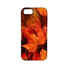 Ablaze With Beautiful Fractal Fall Colors Apple Iphone 5 Classic Hardshell Case (pc+silicone) by jayaprime