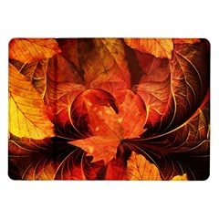 Ablaze With Beautiful Fractal Fall Colors Samsung Galaxy Tab 10 1  P7500 Flip Case by jayaprime