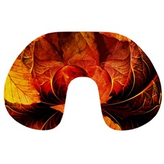 Ablaze With Beautiful Fractal Fall Colors Travel Neck Pillows by jayaprime