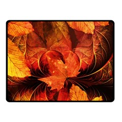 Ablaze With Beautiful Fractal Fall Colors Double Sided Fleece Blanket (small)  by jayaprime