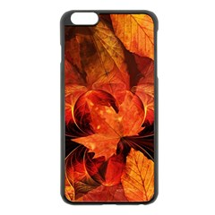 Ablaze With Beautiful Fractal Fall Colors Apple Iphone 6 Plus/6s Plus Black Enamel Case by jayaprime