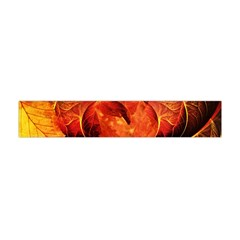 Ablaze With Beautiful Fractal Fall Colors Flano Scarf (mini) by jayaprime