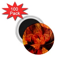 Ablaze With Beautiful Fractal Fall Colors 1 75  Magnets (100 Pack)  by jayaprime