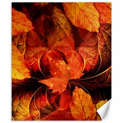 Ablaze With Beautiful Fractal Fall Colors Canvas 8  X 10  by jayaprime