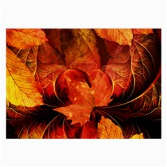 Ablaze With Beautiful Fractal Fall Colors Large Glasses Cloth (2 Side) by jayaprime