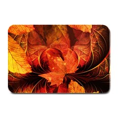 Ablaze With Beautiful Fractal Fall Colors Plate Mats by jayaprime