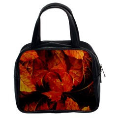 Ablaze With Beautiful Fractal Fall Colors Classic Handbags (2 Sides) by jayaprime