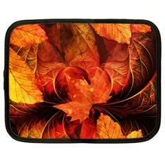 Ablaze With Beautiful Fractal Fall Colors Netbook Case (xxl)  by jayaprime
