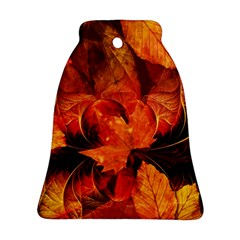 Ablaze With Beautiful Fractal Fall Colors Bell Ornament (two Sides) by jayaprime