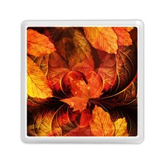 Ablaze With Beautiful Fractal Fall Colors Memory Card Reader (square)  by jayaprime