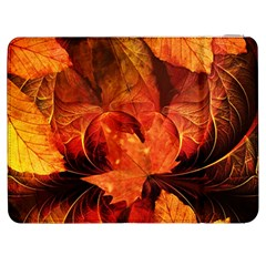 Ablaze With Beautiful Fractal Fall Colors Samsung Galaxy Tab 7  P1000 Flip Case by jayaprime