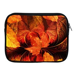 Ablaze With Beautiful Fractal Fall Colors Apple Ipad 2/3/4 Zipper Cases by jayaprime
