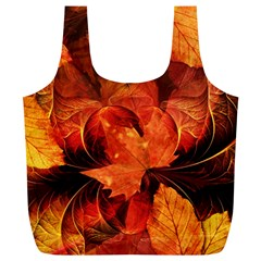 Ablaze With Beautiful Fractal Fall Colors Full Print Recycle Bags (l)  by jayaprime