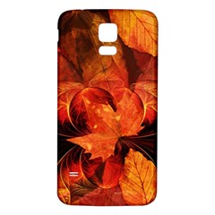 Ablaze With Beautiful Fractal Fall Colors Samsung Galaxy S5 Back Case (white) by jayaprime