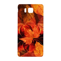 Ablaze With Beautiful Fractal Fall Colors Samsung Galaxy Alpha Hardshell Back Case by jayaprime