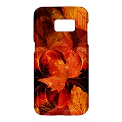 Ablaze With Beautiful Fractal Fall Colors Samsung Galaxy S7 Hardshell Case  by jayaprime