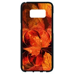 Ablaze With Beautiful Fractal Fall Colors Samsung Galaxy S8 Black Seamless Case by jayaprime