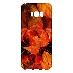 Ablaze With Beautiful Fractal Fall Colors Samsung Galaxy S8 Plus Hardshell Case  by jayaprime