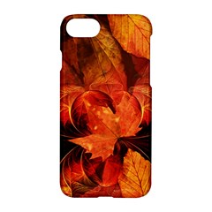Ablaze With Beautiful Fractal Fall Colors Apple Iphone 8 Hardshell Case by jayaprime
