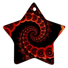 Chinese Lantern Festival For A Red Fractal Octopus Ornament (star) by jayaprime