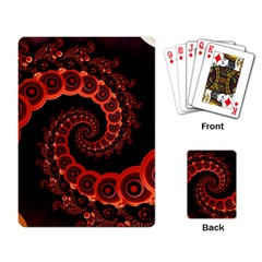 Chinese Lantern Festival For A Red Fractal Octopus Playing Card by jayaprime
