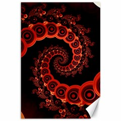 Chinese Lantern Festival For A Red Fractal Octopus Canvas 12  X 18   by jayaprime