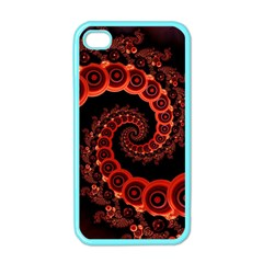 Chinese Lantern Festival For A Red Fractal Octopus Apple Iphone 4 Case (color) by jayaprime