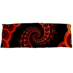 Chinese Lantern Festival For A Red Fractal Octopus Body Pillow Case (dakimakura) by jayaprime