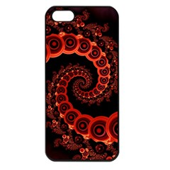 Chinese Lantern Festival For A Red Fractal Octopus Apple Iphone 5 Seamless Case (black) by jayaprime
