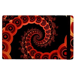 Chinese Lantern Festival For A Red Fractal Octopus Apple Ipad 3/4 Flip Case by jayaprime