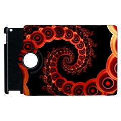 Chinese Lantern Festival For A Red Fractal Octopus Apple Ipad 2 Flip 360 Case by jayaprime