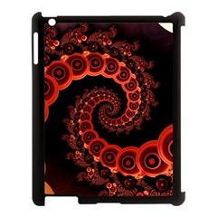 Chinese Lantern Festival For A Red Fractal Octopus Apple Ipad 3/4 Case (black) by jayaprime