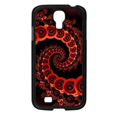 Chinese Lantern Festival For A Red Fractal Octopus Samsung Galaxy S4 I9500/ I9505 Case (black) by jayaprime